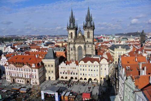 Praga Cidade Velha Igreja Nossa Senhora de Tyn Republica Tcheca