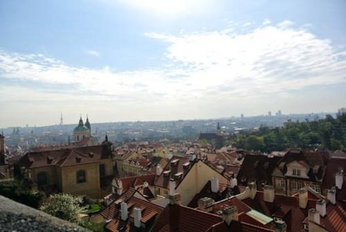 Praga vista castelo Republica Tcheca