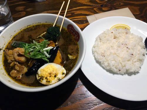 Suage soup curry Sapporo Hokkaido Japao
