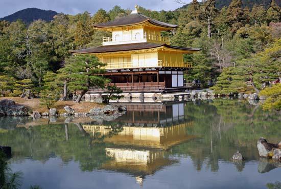 Kinkaku-ji templo de ouro dourado Kyoto Japão