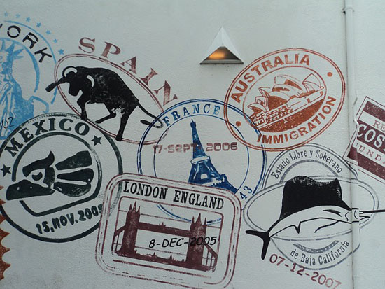 carimbos passaporte