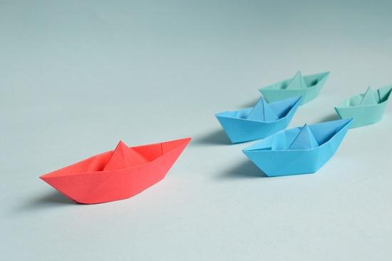 Barco dobradura origami
