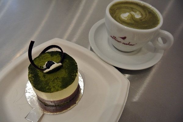 Imi Cafe matcha cake latte SP